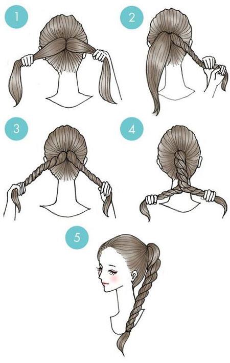Как сделать причёску из хвоста самой себе