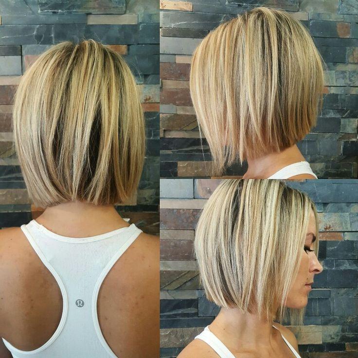 Стильное каре на средние волосы