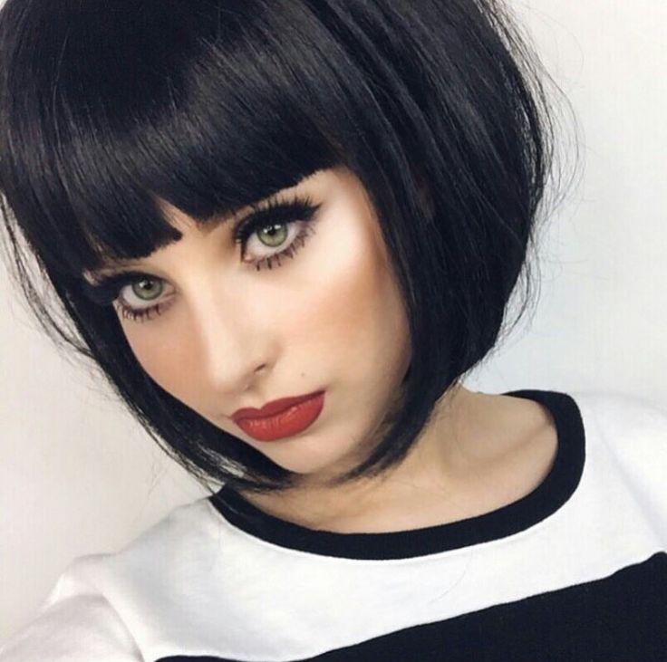 Прически каре на черные волосы