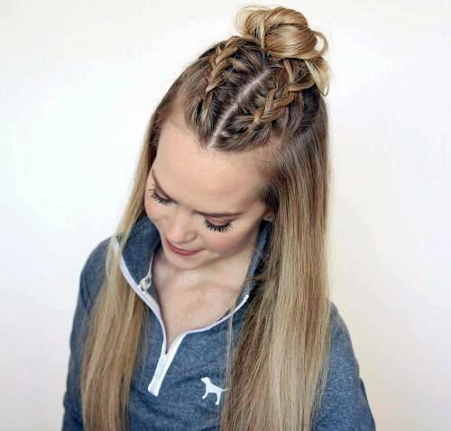 Прически с пучком на длинные волосы