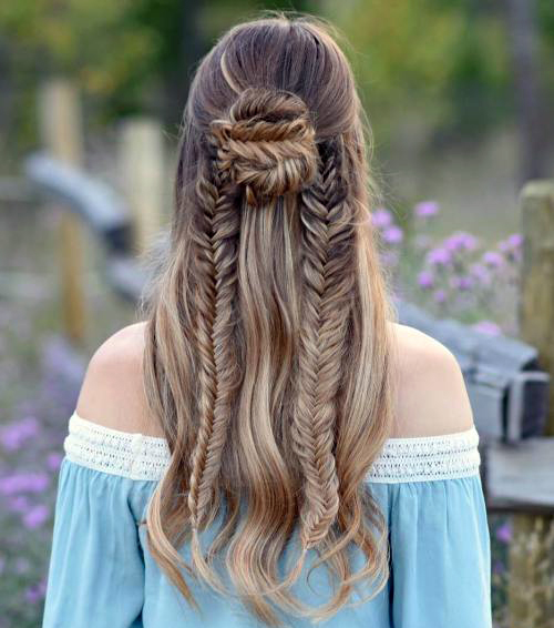 Прически с пучком на длинные волосы_1