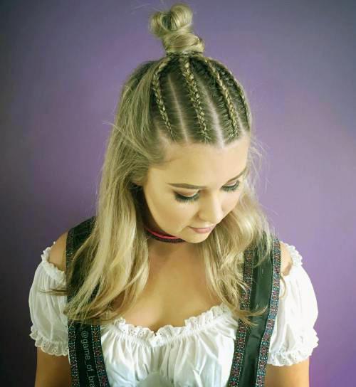 Прически с пучком на длинные волосы_10