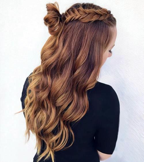 Прически с пучком на длинные волосы_3