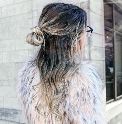 Прически с пучком на длинные волосы_6