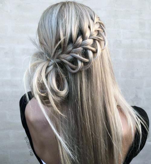 Прически с пучком на длинные волосы_8