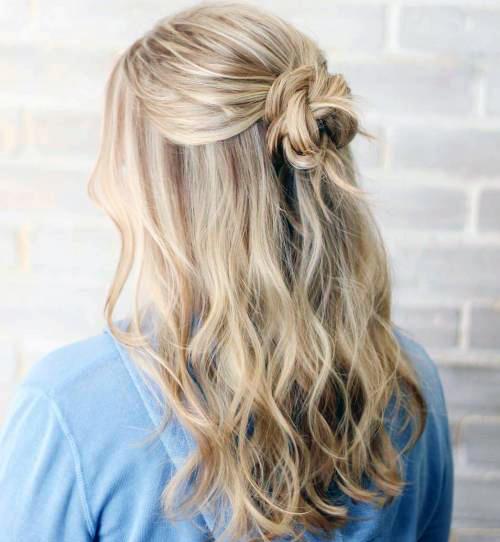 Прически с пучком на длинные волосы_9