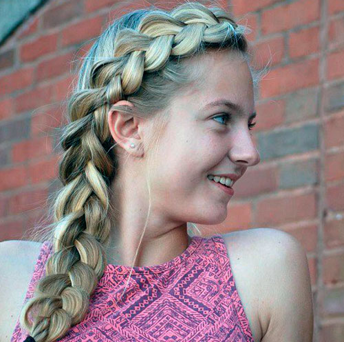 Голландская коса набок
