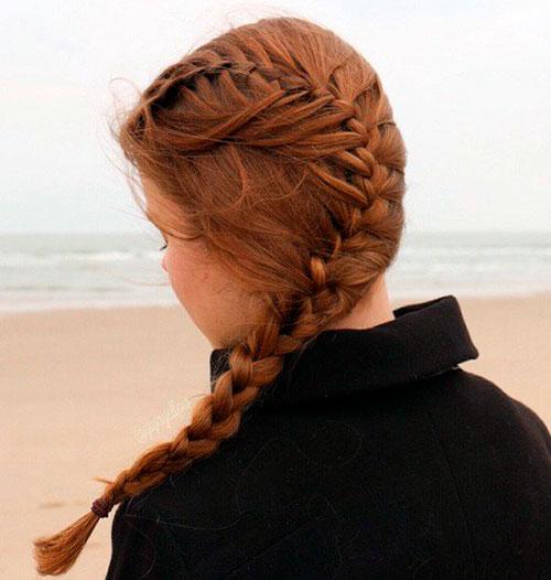 Коса сбоку