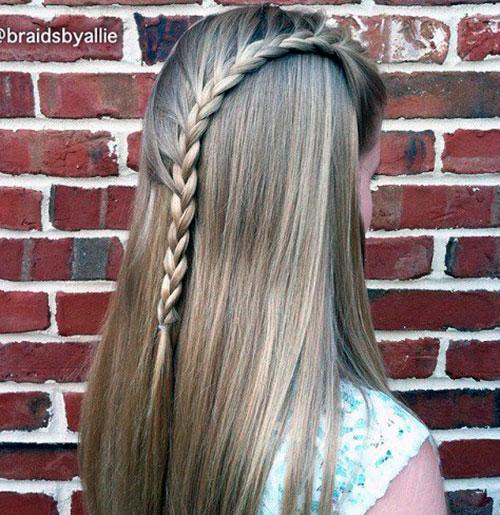 Прекрасная кружевная коса