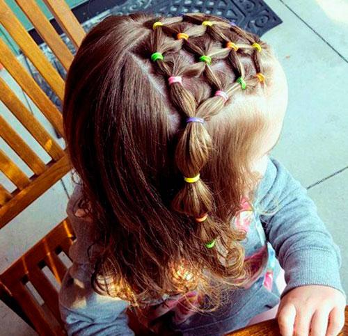 Плетение волос корзинка для девочки