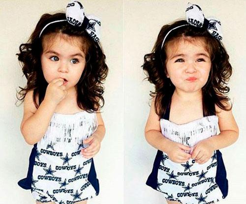 Симпатичные кудри с ободком для маленькой девочки