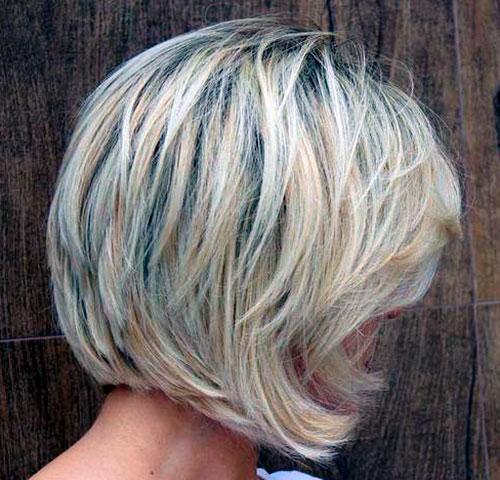 боб каре на среднюю длину для тонких волос