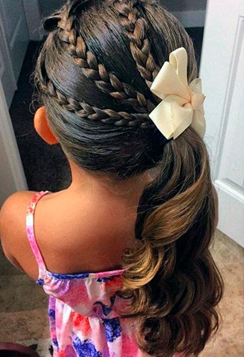 прическа для девочек на длинные волосы