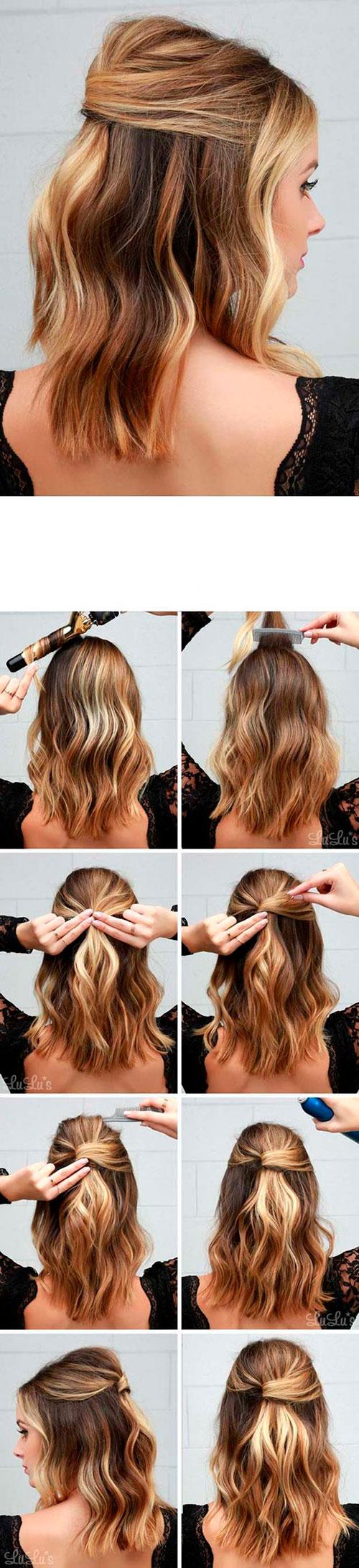 Простые прически на бок на средние волосы своими руками