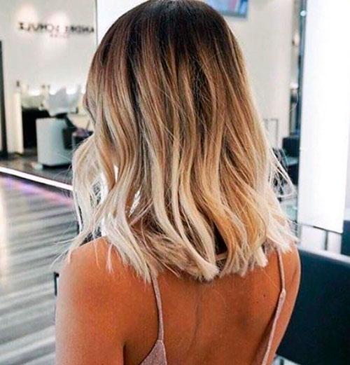 омбре на волосы средней длины