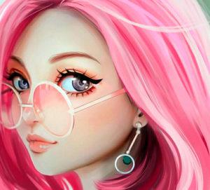 Розовое окрашивание на разные типы волос