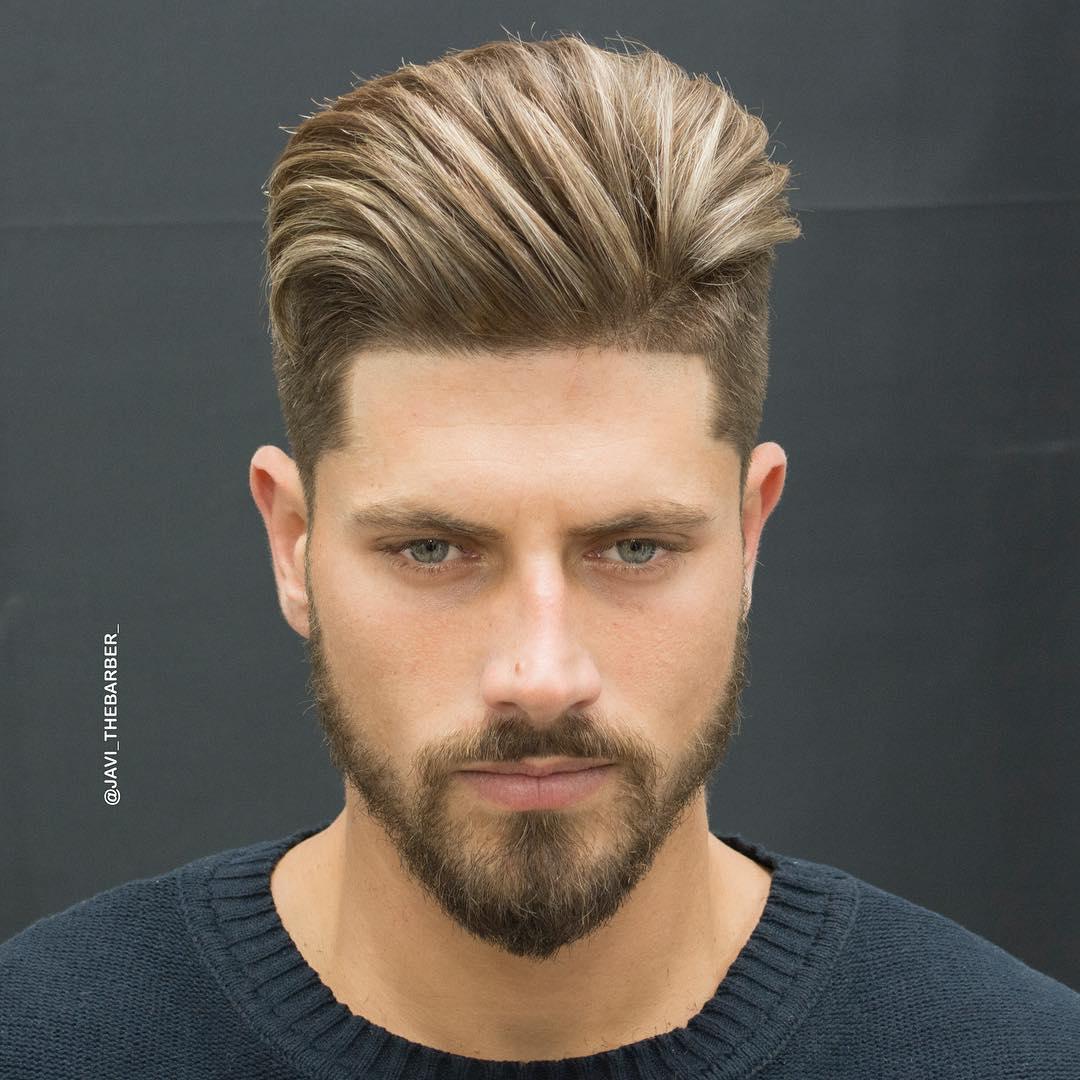 Средний фейд средние волосы