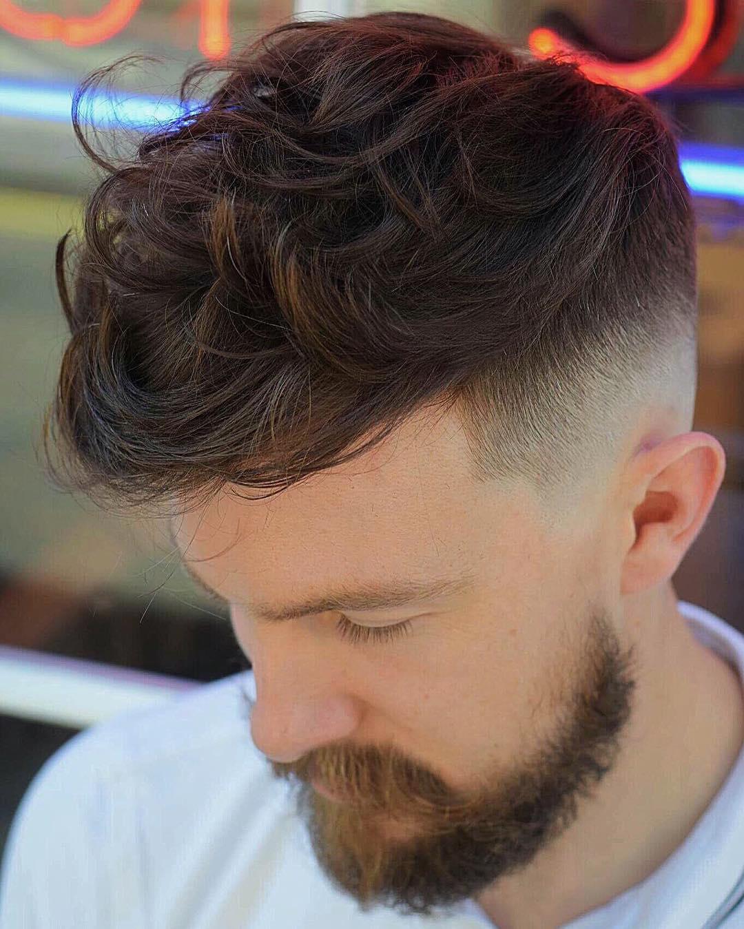 Волнистая мужская стрижка