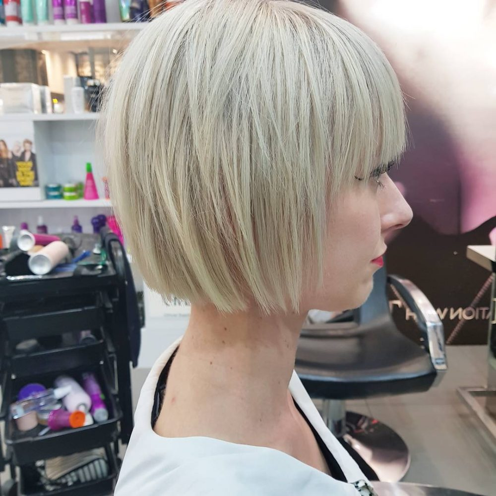 Белый чоппи блонд