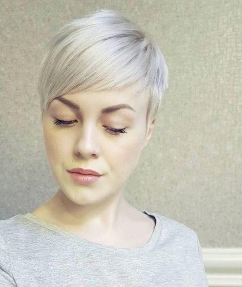 Милый серебреный пикси-блонд