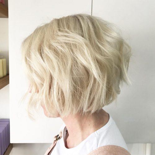 короткое каре светлый блонд