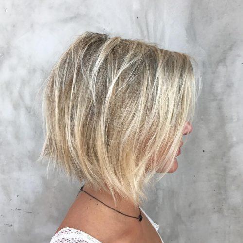 Текстурированное каре легкий блонд